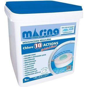 TRAITEMENT DE L'EAU  Chlore 10 actions spécial Liner 5 kg - Marina