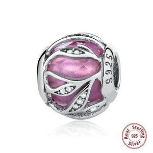 MAILLON DE BRACELET MERRILL® Charms Argent 925 Essence Diamond Rose Ch
