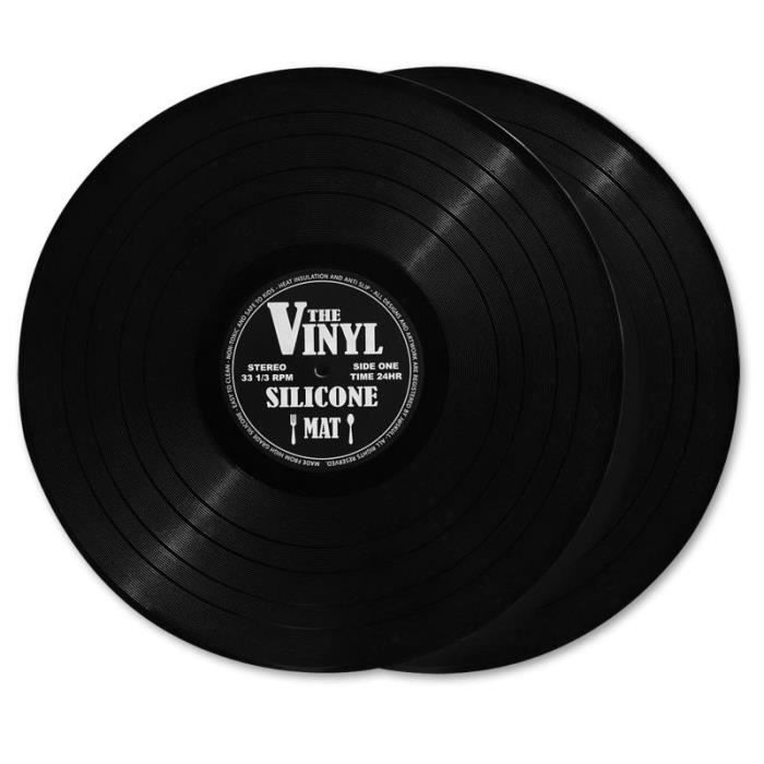 "ensemble de sets de table en forme de disque vinyle""the vinyl"