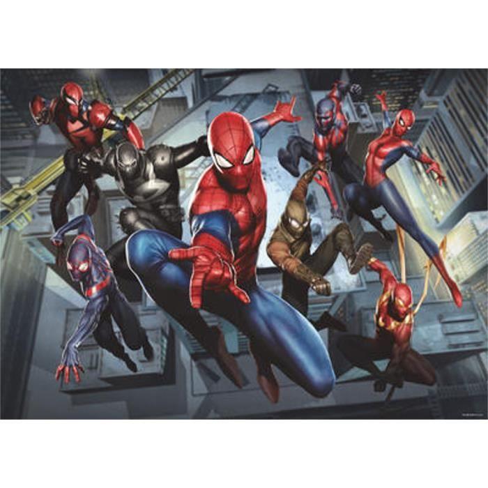 Papier peint M Spiderman 'Dimensions Game' 160X115 CM