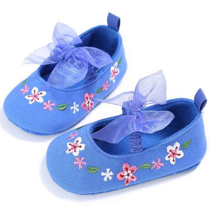 Frankmall®Fille mignonne Broderie berceau chaussures fleur douce semelle anti-dérapante bébé Sneakers ROSE#WQQ0926202 8Ihl8DydiH