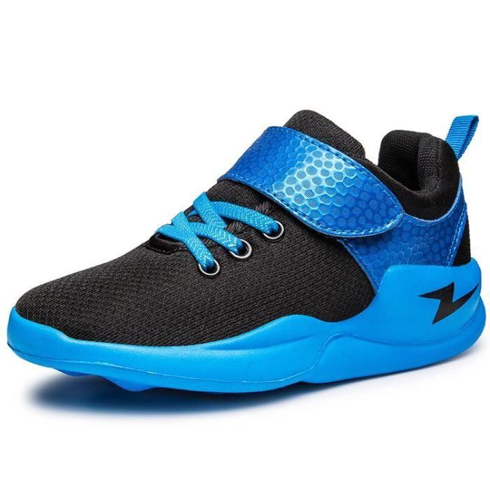 Mode chaussures respirantes pour enfants chaussures de course chaussures de basket-ball