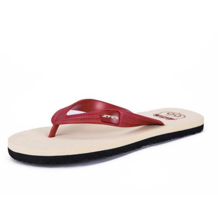 Tongs Sandale Homme Poids LéGer Chaussures Plage Confortable Pantoufles Hommes Fond Plat Sandale Luxe Hommes Grande Taille 40-45