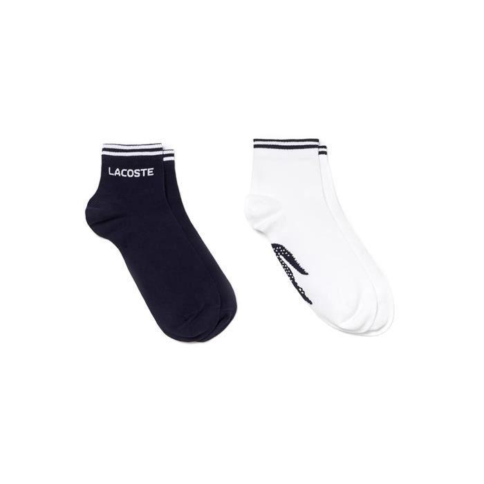 Homme Noir Sport Court Chaussettes Pack 3 de Lacoste Vêtements