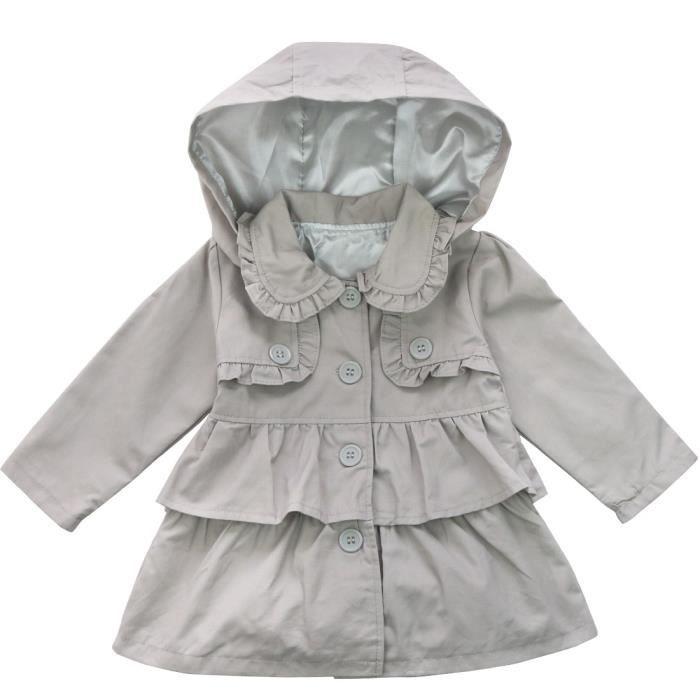Manteau gris long kiabi