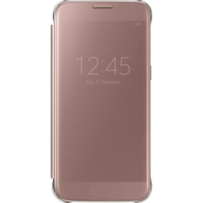 SAMSUNG Clear View cover pour Galaxy S7 - Rose Or - Achat housse ... 7b76dabeac7d