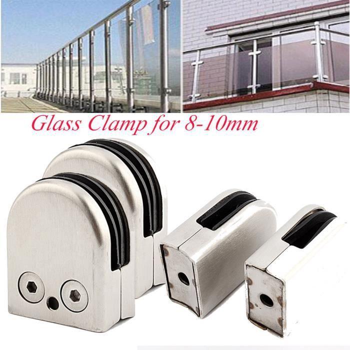 24x Porte-verre en acier inoxydable Pince Pince /à verre Support pour garde-corps 6-7mm