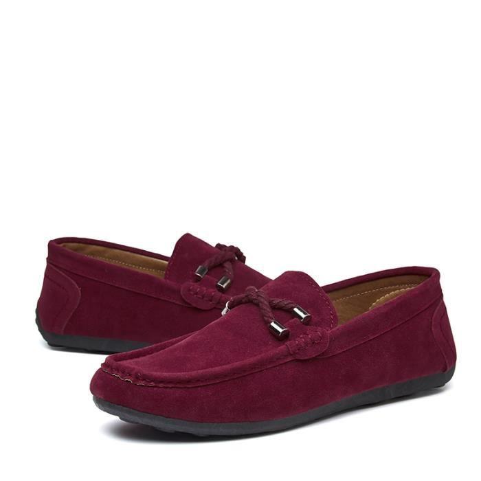 Meilleure Chaussure Homme Mode Confortable Daim Mocassins En Chaussures Occasionnelles Appartements Qualité Cuir Z1FqSdFwt