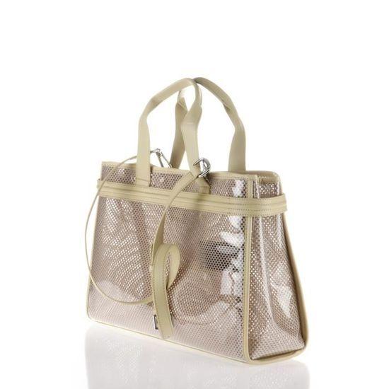 ARMANI JEANS - Sac Cabas en PVC Beige Transparent - Femme Beige et  transparent - Achat   Vente sac shopping 8057015606514 - Cdiscount 5d1698666c1