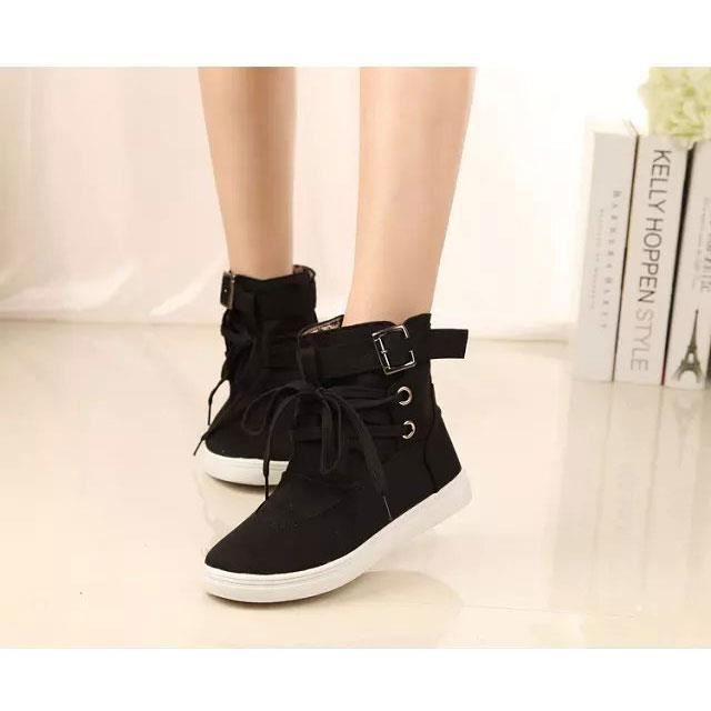 Automne Hiver Bottine Femme Mode Chaussures Déc...
