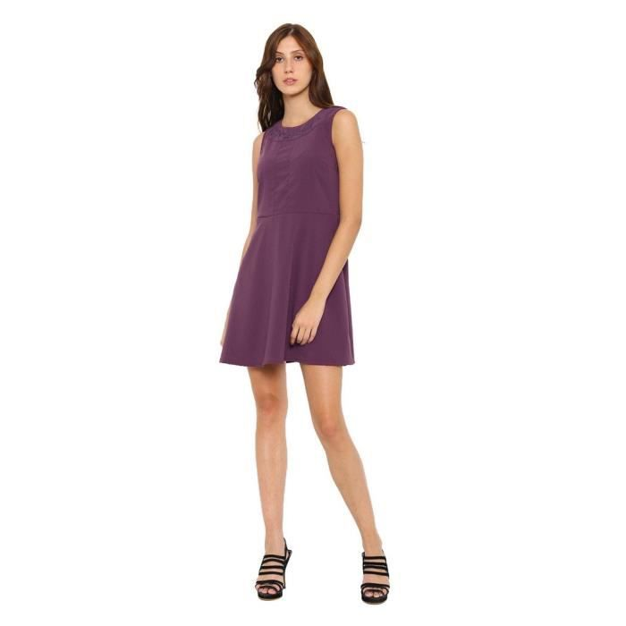 Womens Purple Polyester Dress YSPVO Taille-40