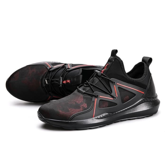 Baskets Homme Chaussure hiver Jogging Sport Ultra Léger Respirant Chaussures BLKG-XZ228Rouge41