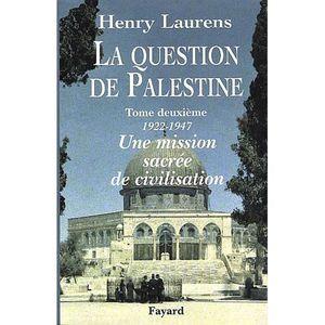 LIVRE HISTOIRE MONDE La question de Palestine