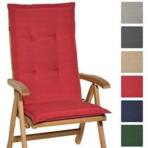 HOUSSE DE FAUTEUIL Beautissu Coussin Loft HL 120x50x6cm Rouge - pour