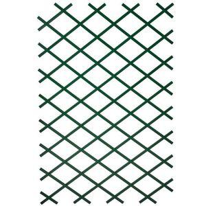CLÔTURE - GRILLAGE Palissade de jardin 50 x 150 cm PVC Vert