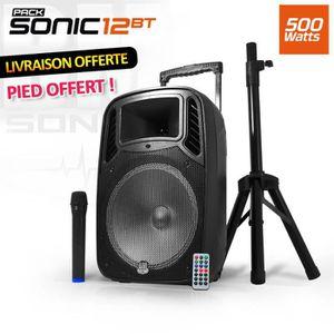 ENCEINTE ET RETOUR Enceinte sono DJ mobile 12