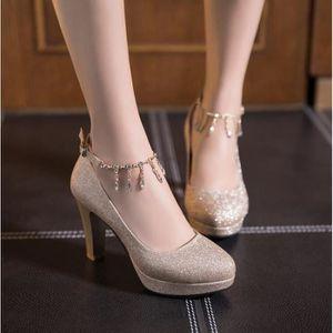 ESCARPIN Chaussures Femme élégant Mariage Talons Hauts Bouc