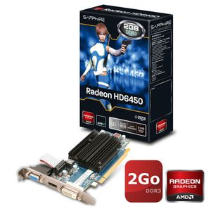 CARTE GRAPHIQUE INTERNE Sapphire AMD Radeon HD6450 2Go DDR3