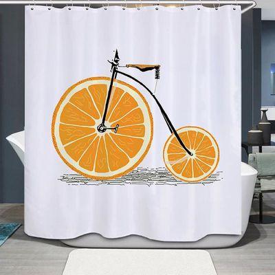 Orange vélo impression rideau de douche accessoire salle de bain ...