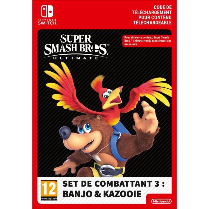 DLC Super Smash Bros. Ultimate - Set de combattant 3 : BANJO & KAZOOIE - Code de Téléchargement pour