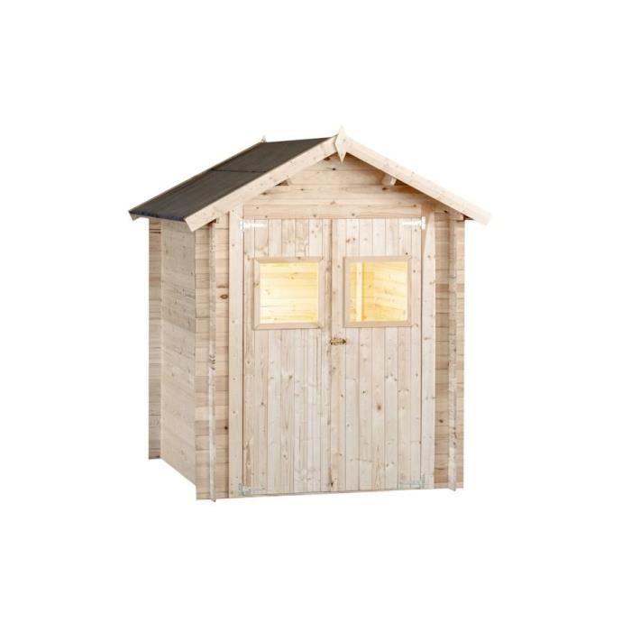 Abri de jardin en bois 19 mm - 180 x 130 cm - 2,34m²