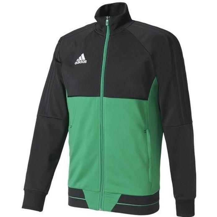 ADIDAS Tiro 17 Veste d'entrainement - Homme - Noir, vert et blanc