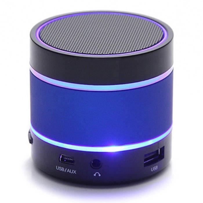 S09 Haut-parleur Sans Fil Led Mini-boîte De Portable Bluetooth Extérieure Avec Carte Tf Bleu