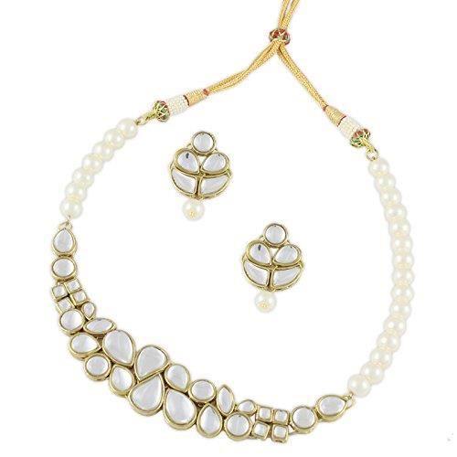 collier de kundan hybride des femmes pour? B6MYG