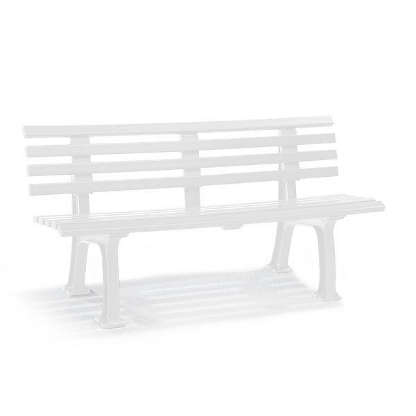 banc d 39 ext rieur en plastique 9 lames largeur 1500 mm blanc banc banc d 39 ext rieur banc en. Black Bedroom Furniture Sets. Home Design Ideas