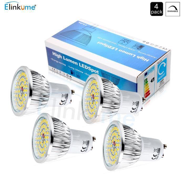 AMPOULE - LED Elinkume Ampoule Spot LED 4x GU10 Dimmable 6W équi