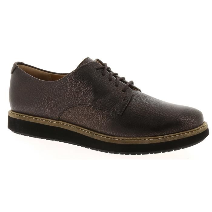 Chaussures Darby Wo7xgcqx5 À Achat Glick Marron Lacets Clarks qwnx404IW5