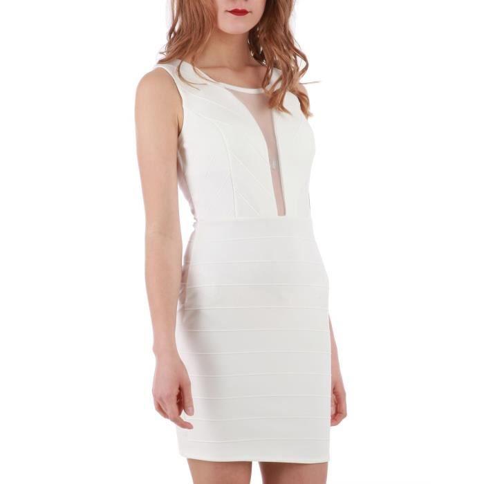 73005250968 La Modeuse - Robe courte sans manches