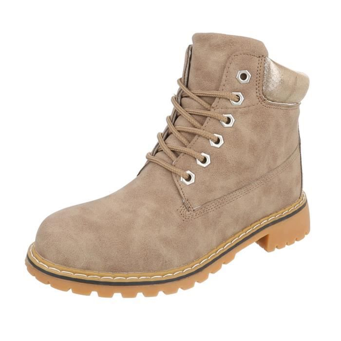 Chaussures femme bottine lacet Bottes Used Optik marron clair 41