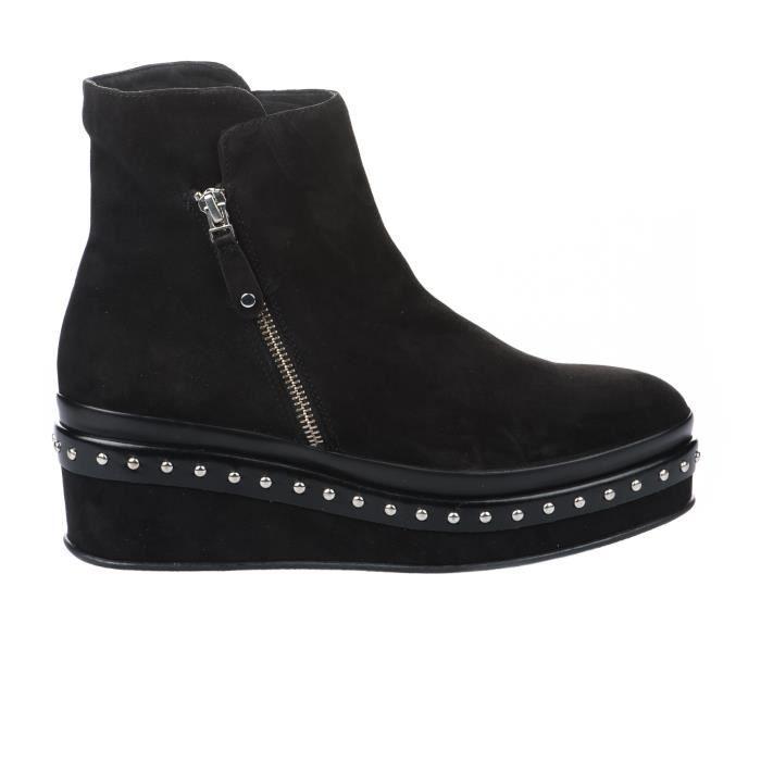 Boots ELVIO Boots ZANON Millim femme ELZCSCNENER Noir G1504N femme fwvqZpxCn7