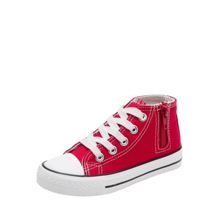 chaussures multisport en toile Girl Zipper Classic High Baskets montantes 9838500