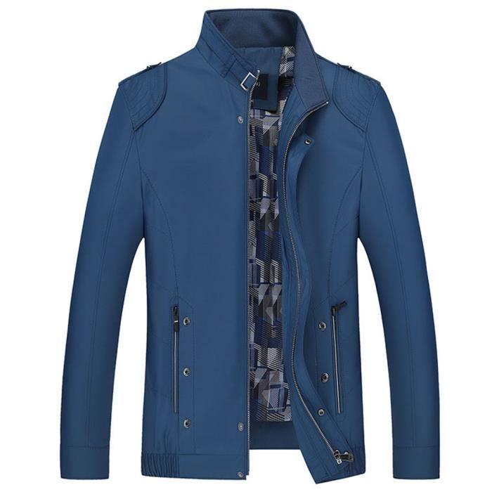 H Veste Blouson Homme Polyester Léger Bleu Xl Achat qzqRwB