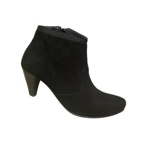 900925b8ab4ef Bottines femmes BILLTORNADE noires talon haut velours Noir Noir ...