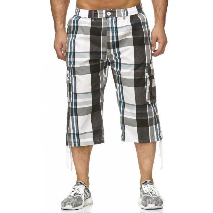 953f5fae9ed46c Hommes Bermuda Shorts 3-4 Pantalon décontracté à carreaux H2262