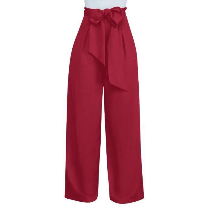 ad9f8ac154e1e Pantalon femme taille haute large - Achat / Vente pas cher