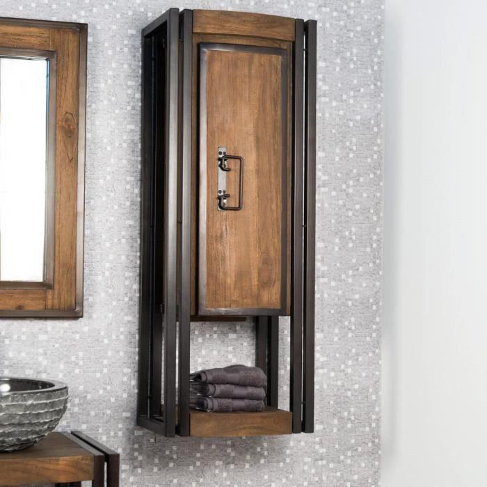 Colonne de salle de bain suspendu el gance teck achat - Vendeur de salle de bain ...