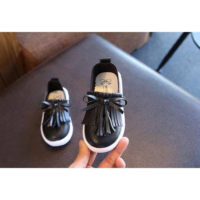BOTTE Enfants en bas âge enfants princesse Fashion frange unique chaussures été filles sandales@NoirHM