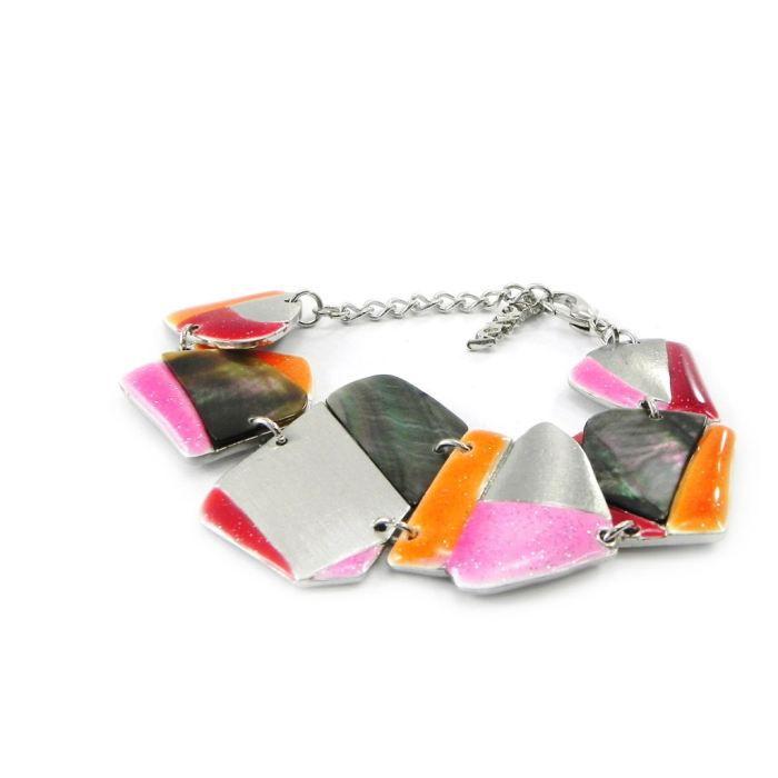 Bracelet Créateur Bora Bora rose orange
