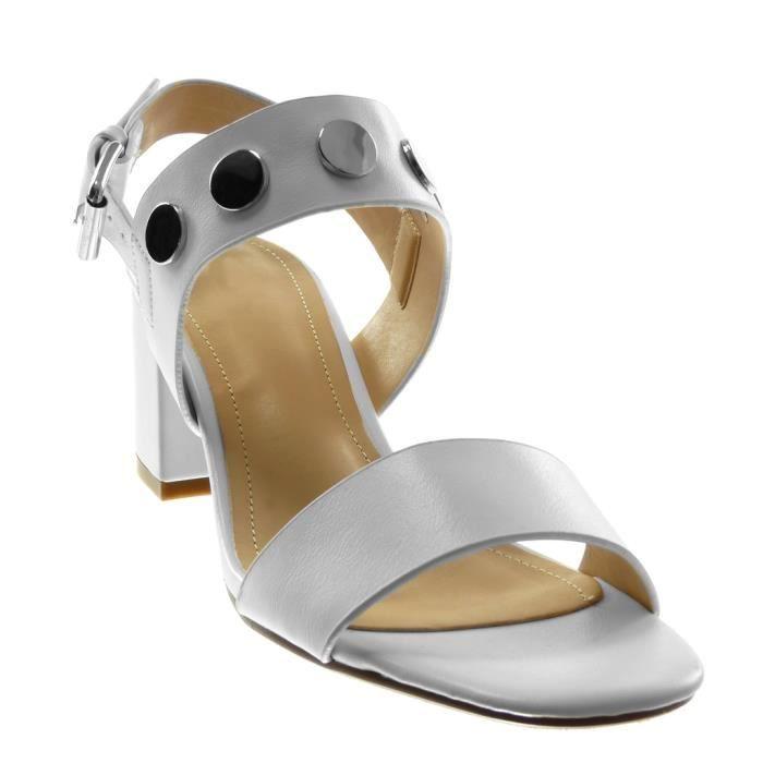 Lanière Femme Angkorly T Cheville blanc 7 Cm Mode Rose Sandale Bc374 Haut Clouté Bloc Chaussure Talon Blanc 35 qRrWtRnH