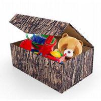 BOITE DE RANGEMENT Coffre rangement jouets carton pliable woodblock k