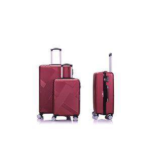 SET DE VALISES LYS - Set de 3 Valises Rouge Rigide ABS 4 Roues do
