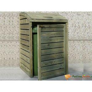 abri poubelle en bois achat vente abri poubelle en bois pas cher cdiscount. Black Bedroom Furniture Sets. Home Design Ideas