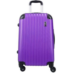 VALISE - BAGAGE Valise Grande taille 4 roues 75cm rigide violet -