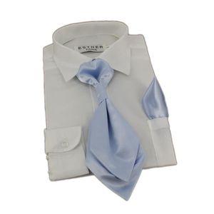 5d9386bfd70 CRAVATE - NŒUD PAPILLON Cravate lavallière enfant satin uni avec pochet.