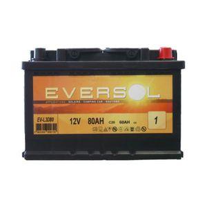 BATTERIE VÉHICULE Batterie solaire à décharge lente 12V - 80Ah Evers