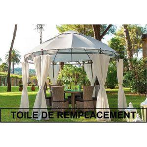 TOILE DE REMPLACEMENT POUR TONNELLE RONDE LISBOA - Toile de rechange ...